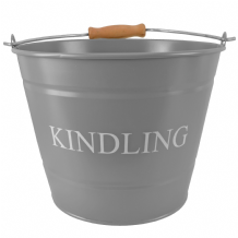 Small Kindling Bucket - Grey
